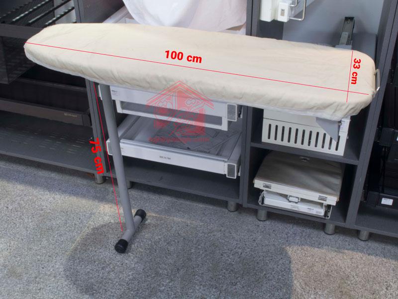 ابعاد میز اتوی ایستاده داخل کمد ملونی مدل 8010