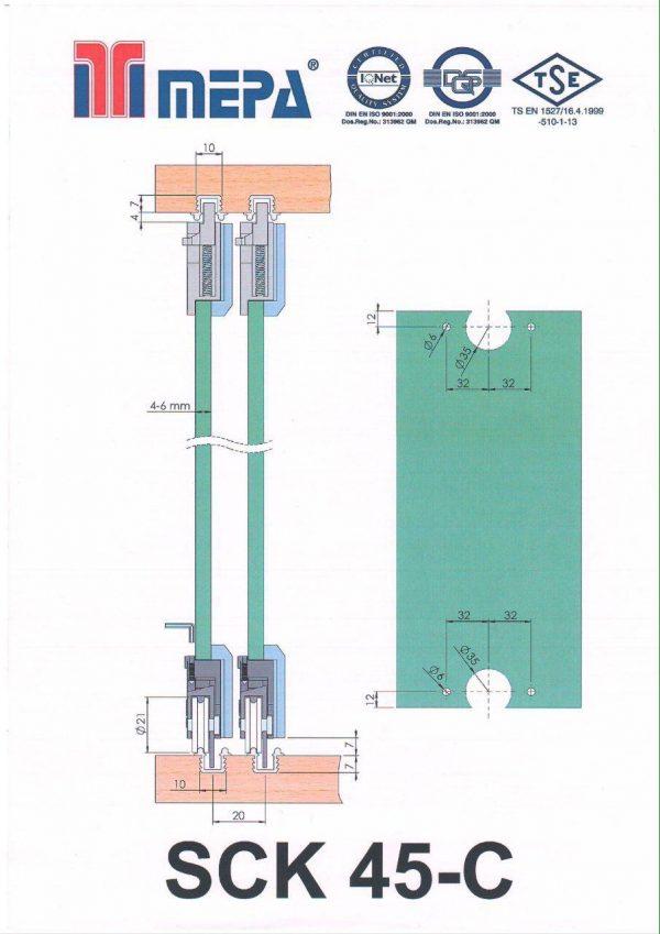 مکانیزم درب شیشه ای مپا SCK 45 در فروشگاه اینترنتی تجهیزیراق