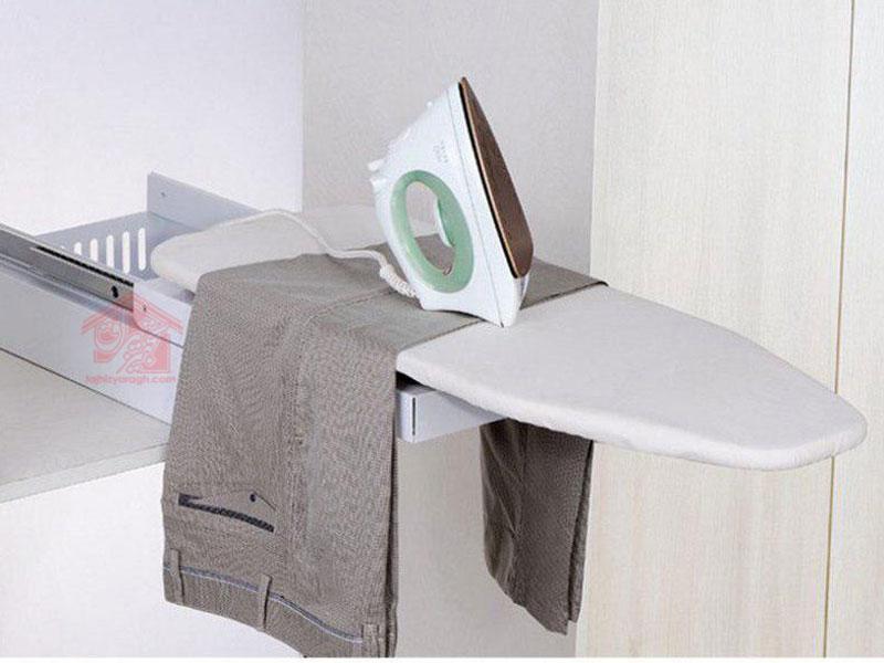 نمای نصب شده میز اتوی باکس دار ملونی کد 8008