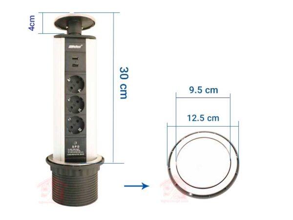 ابعاد-پریزتوکار استوانه ای-10008-ملونی