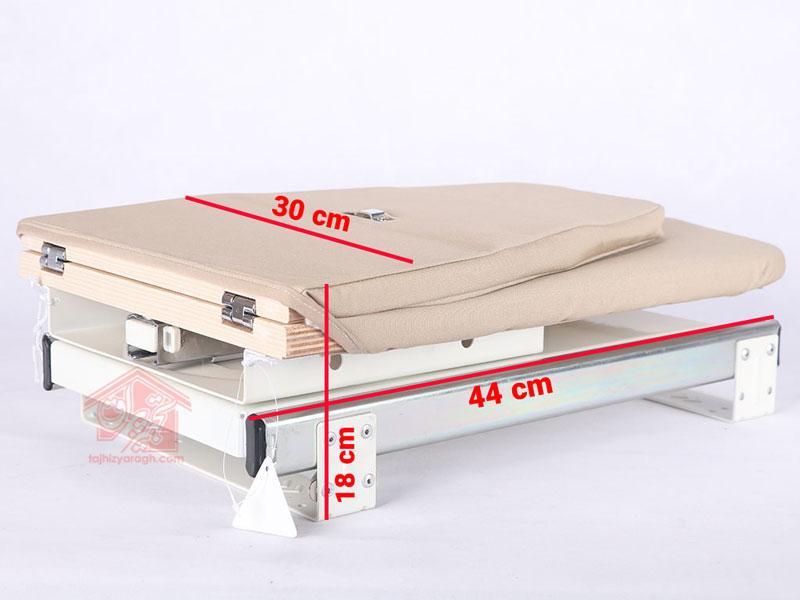 ابعاد میز اتوی تاشو گردان ملونی مدل 8007