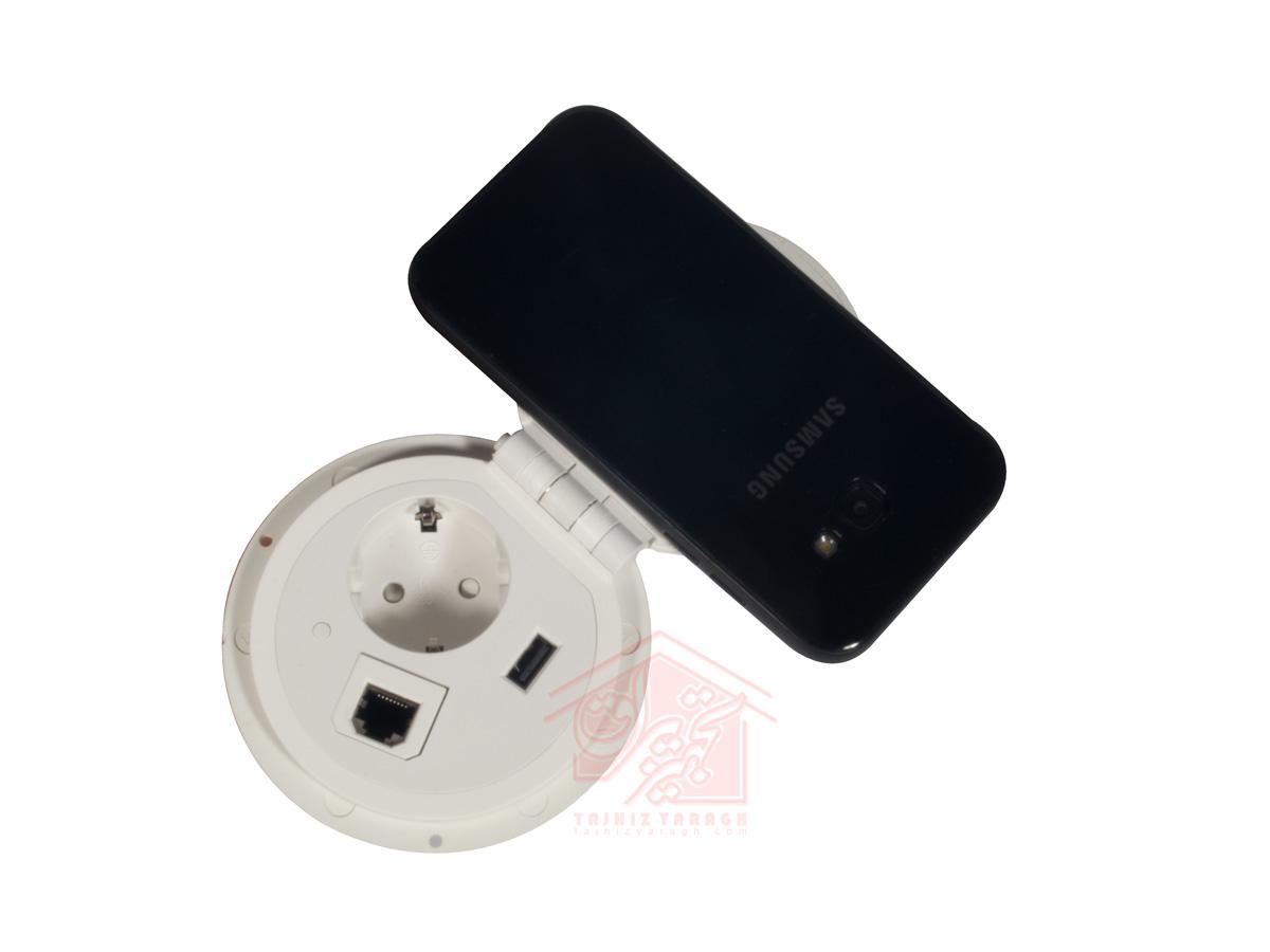 شارژ وایرلس موبایل در پریز مخفی مدل ۱۰۰۳۲ ملونی