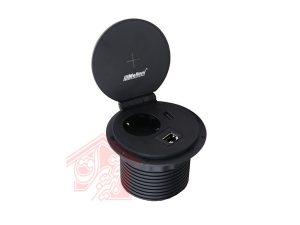 پریزتوکار-10032مشکی-ملونی-زاویه-45-درجه-تجهیزیراق