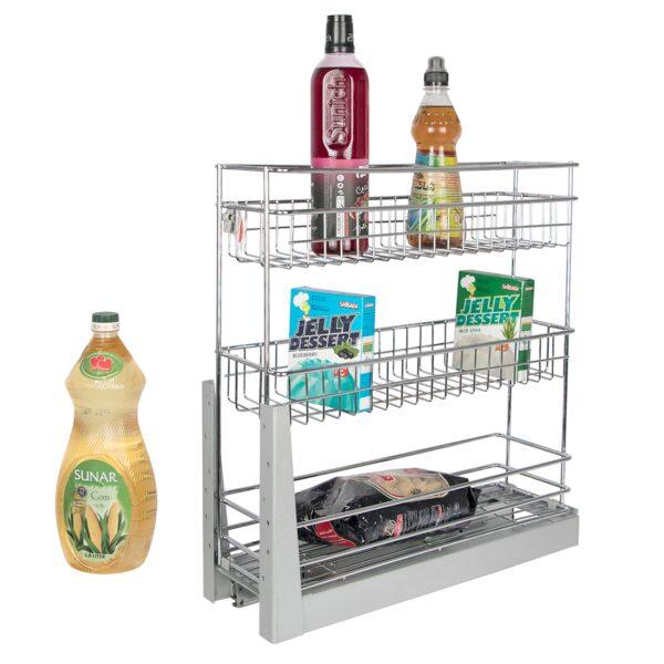 سبد جا بطری و حبوبات ریل کف یونیت 20 سانت سه طبقه در فروشگاه اینترنتی تجهیزیراق