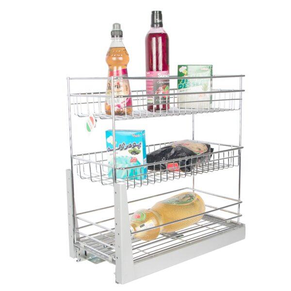 سبد جا بطری و حبوبات ریل کف یونیت 30 سانت سه طبقه در فروشگاه اینترنتی تجهیزیراق