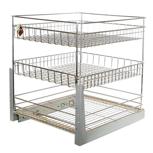 سبد جا بطری و حبوبات ریل کف یونیت 50 سانت سه طبقه در فروشگاه اینترنتی تجهیزیراق