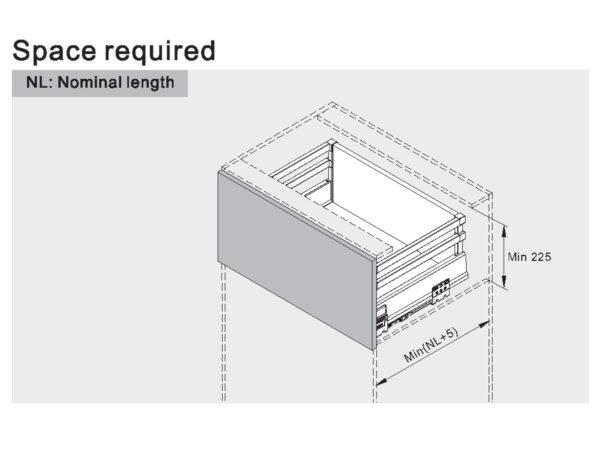 ریل کشو تاندوم باکس با دو میله گالری uni hooper سایز 40 سانت