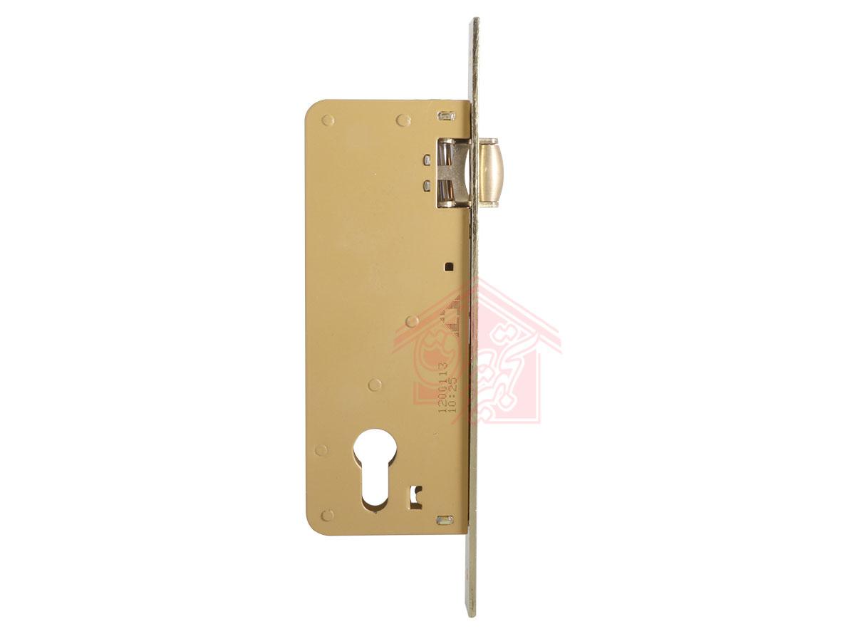 نمای پهلو قفل درب غلطکی 6.5 سانت دلتا