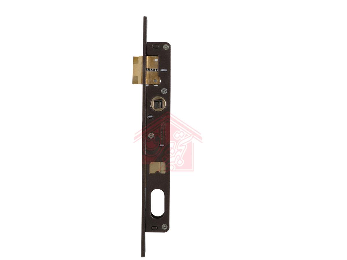 نمای پهلو قفل 2.5 سانت درب آهنی