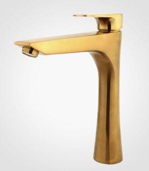 شیر روشویی بلند راسان مدل آتیس-طلایی مات در فروشگاه اینترنتی تجهیزیراق