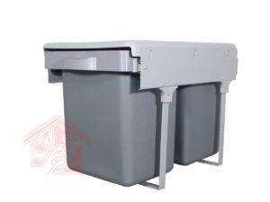 سطل زباله دوقلو ریلی داخل کابینت کلاسیک-تجهیزیراق