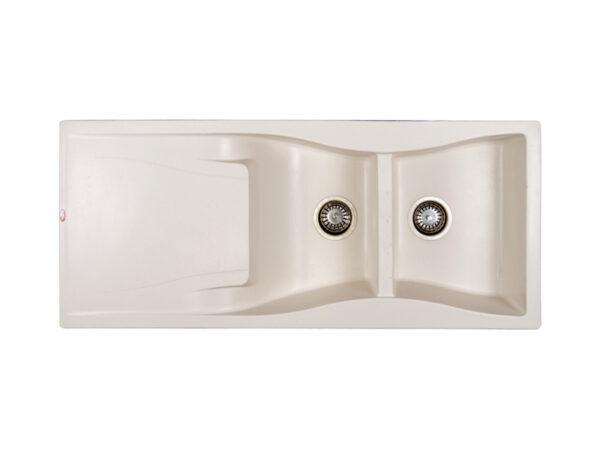 سینک گرانیتی شاین مدل 518 سفید از نمای بالا