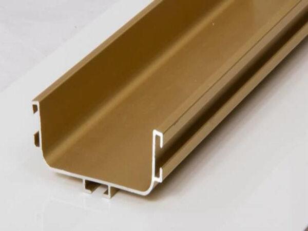 دستگیره مخفی U طلایی از نمای 45 درجه