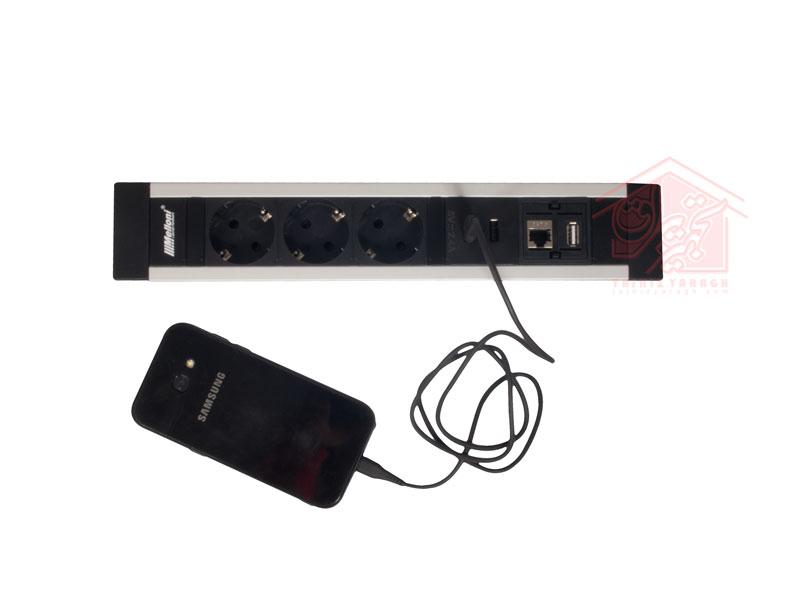 شارژ تلفن همراه توسط شارژر USB پریز 10030 ملونی