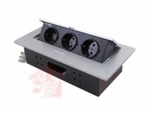 پریز-توکار-10016ملونی-نمای-45-درجه-درب-باز-نقره-ای-تجهیزیراق