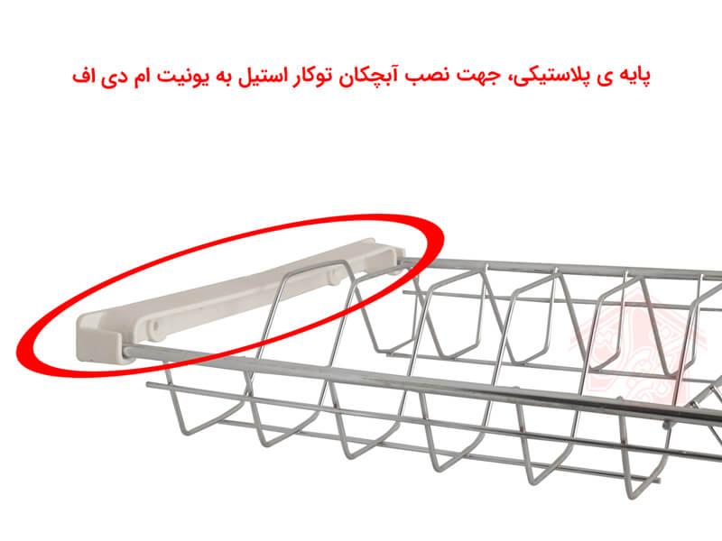 نمای-پایه-پلاستیکی،-جهت-نصب-آبچکان-توکار-استیل-به-یونیت-ام-دی-اف-تجهیز-یراق