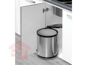 سطل-زباله-کابینتی-استیل-گرد-ملونی-مدل-9130-تجهیزیراق
