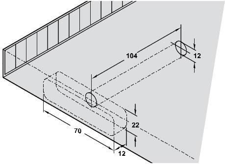 نمای بست شلف چوبی نصب شده