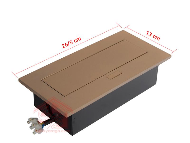 ابعاد پریز روی کابینت ۱۰۰۱۷ ملونی - تجهیز یراق