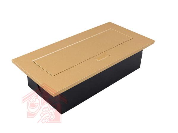 پریز-توکار-10017-طلایی-ملونی-زاویه-45-درجه-تجهیزیراق