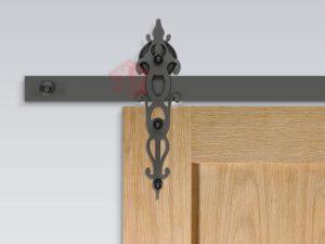 نمای نصب شده یراق درب ریلی مدل R-140