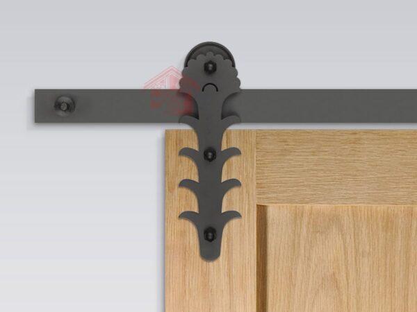 نمای نصب شده ریل درب کشویی چوبی مدل R-125
