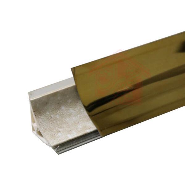 قرنیز پشت گازی استیل قاشقی طلایی