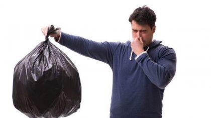 از بین بردن بوی سطل زباله