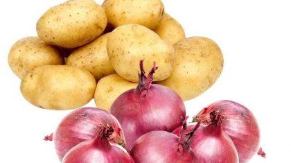 نگهداری سیب زمینی و پیاز در کابینت