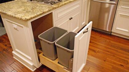 نحوه نصب سطل زباله کابینتی