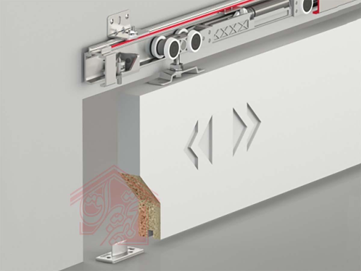 مکانیزم ریلی تک درب چوبی آلباتور-تجهیزیراق