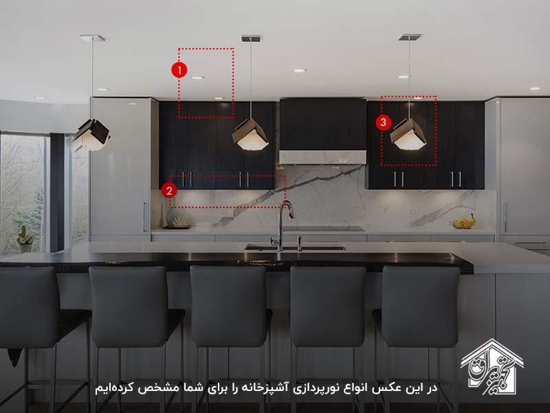 نصب نور مخفی کابینت