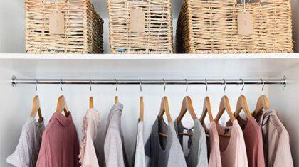 کاربردی ترین روش چیدمان کمد لباس