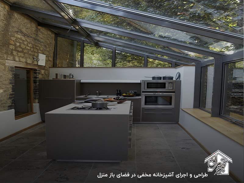 بهترین مکان برای طراحی آشپزخانه مخفی